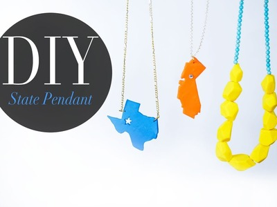 DIY Pop Art State Pendant & Geo Necklace Bead - Anneorshine