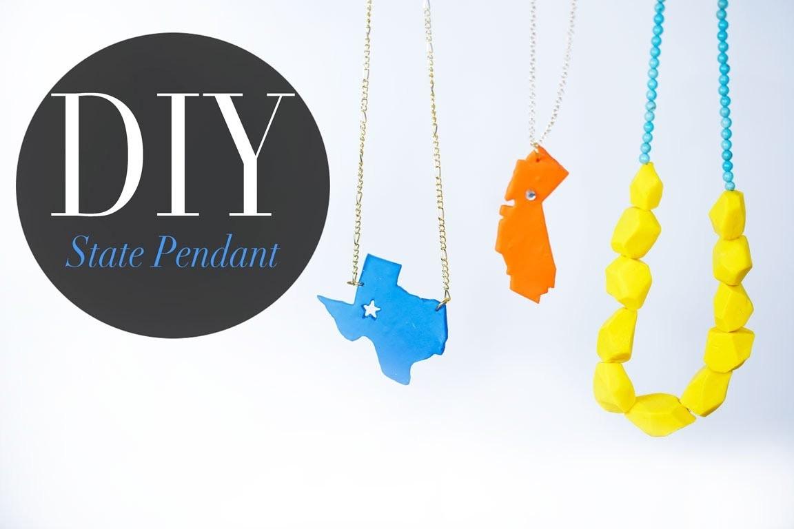 DIY Pop Art State Pendant & Geo Necklace Bead - Anneorshine