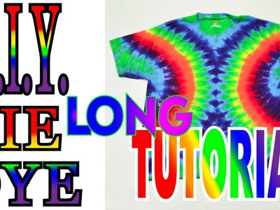 DIY Tie Dye Symmetrical Side Circle Shirt [Long Tutorial]