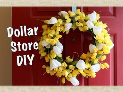 DOLLAR STORE DECOR: Spring Wreath DIY