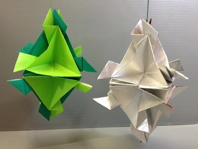 Easy Origami Modular Christmas Ornament