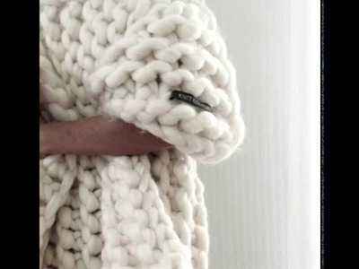 Extrem knitting | Chunky knit blanket | Big in Japen | Ane Brun