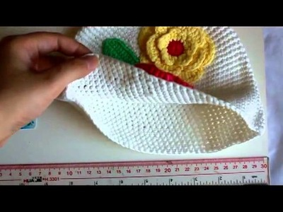 Flower Crochet Toddler Baby Hat Photography Prop HANDMADE Kid cap ett6w White
