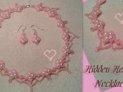 Hidden Hearts Necklace Beading Tutorial by HoneyBeads1