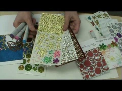 How Scrapbooking Made Simple uses NEW Glitter Stickers, Copic Markers & Burnished Velvet Glitter