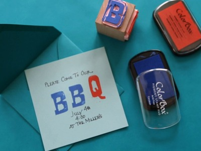 How to Carve a Rubber Stamp || KIN DIY