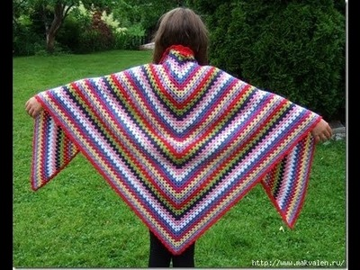 How to crochet  shawl free pattern for beginer