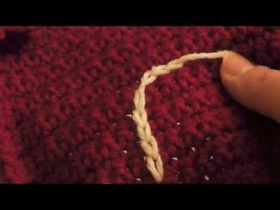 How to Embroider a Chain Stitch