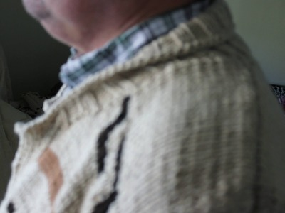 How to Knit a Shawl Collar on a Dude Lebrowski Cardigan