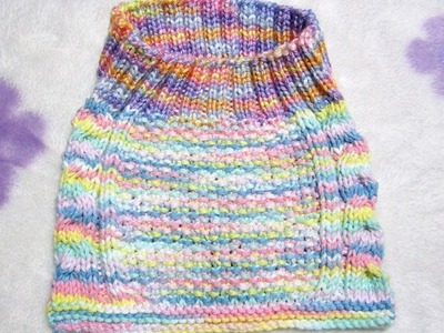 How to Knit Cable Stay-On Baby Bib Part - 1