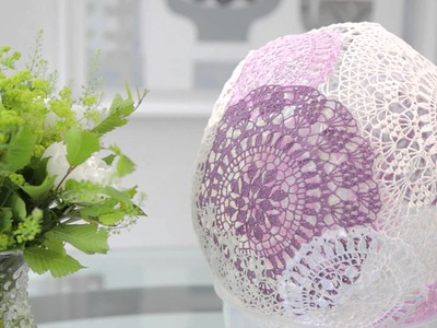 How to make a Crochet Lamphade   Anchor Wrap it