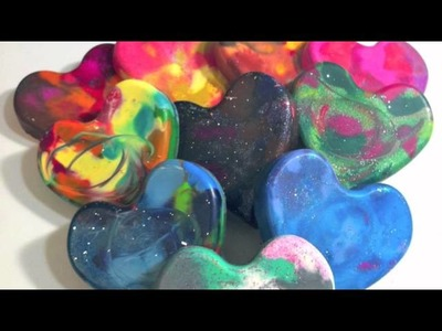 How To Make Glittered Heart Crayons || DIY Project