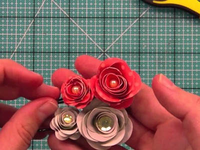 How to make paper flower hair pins { Lawn Fawn }