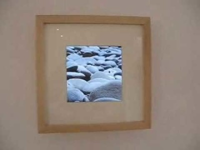 How to modify a digital photo frame for square format photos