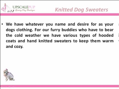 Knitted Dog Sweaters
