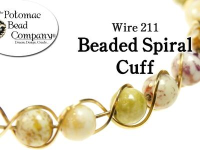 Make a Beaded Spiral Cuff Bracelet