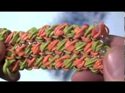 Make A Triple Double Cross Rainbow Loom Bracelet
