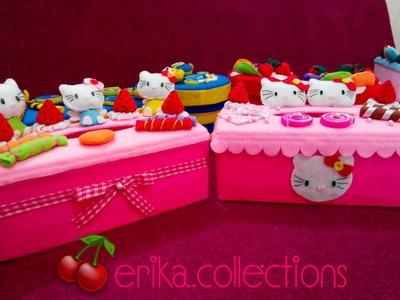 Membuat Hiasan Toples Flanel [boneka hello kitty]-Erika Flanel Craft