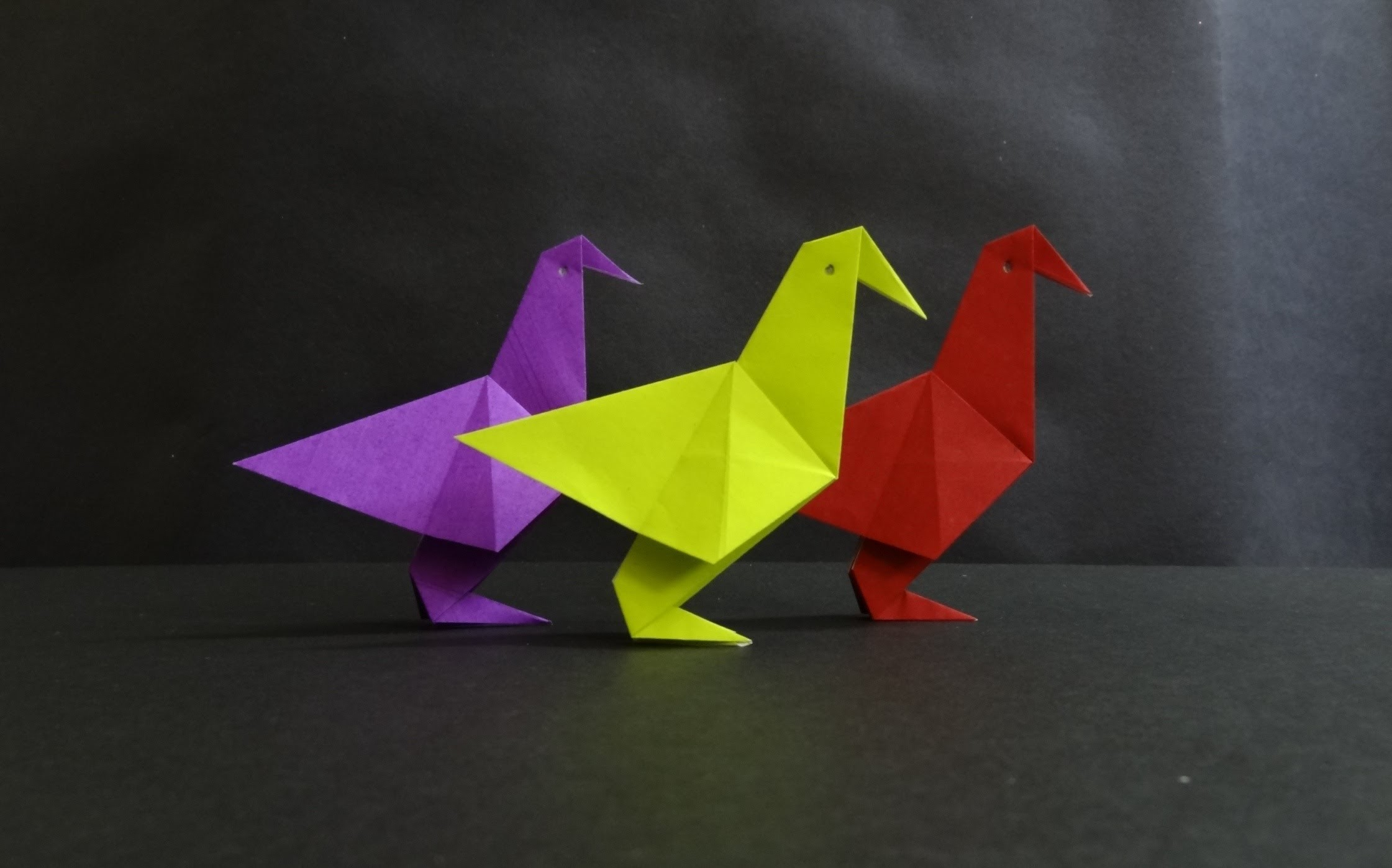 Origami Bird Tutorial - How to fold a Simple Paper Bird