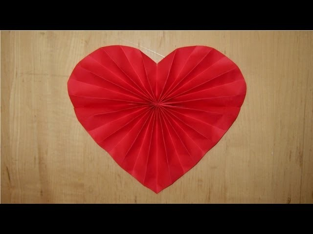 Paper heart decoration for Valentines, Wedding, or Anniversary