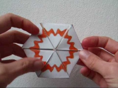 Papercraft - flexagon - heptahexaflexagon - dutchpapergirl