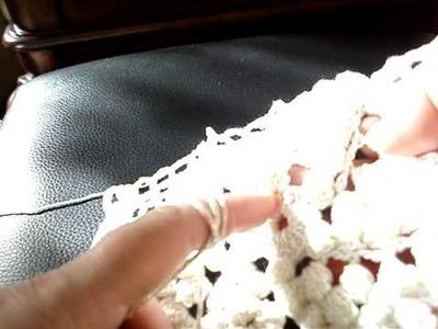 ( PART I ) MOTIF OF Crocheted Popcorn Pinwheel Bed Spread