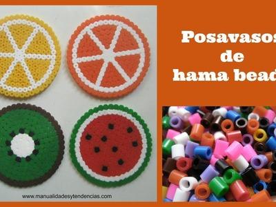 Posavasos de hama beads o pyssla. Fruit coasters