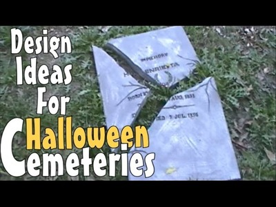 Spooktacular DIY Halloween Decoration Ideas & Inspirations For Making Prop Tombstones & Gravestones