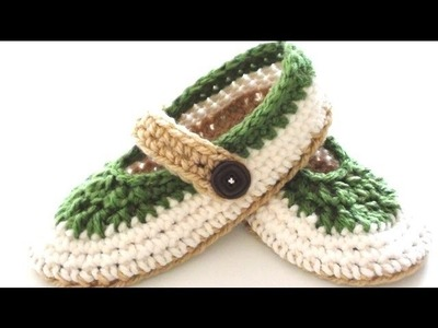 St. Patty Slapper Crochet Slippers - Pt 4 - Band and Buttons