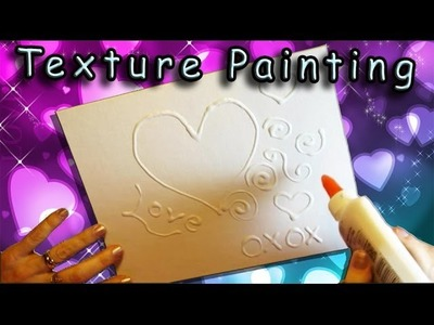 An Easy Valentine's Day Craft for Kids - Texture Painting With Glue