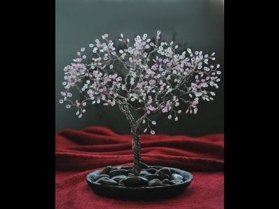 Beaded Wire Cherry Blossom Tree