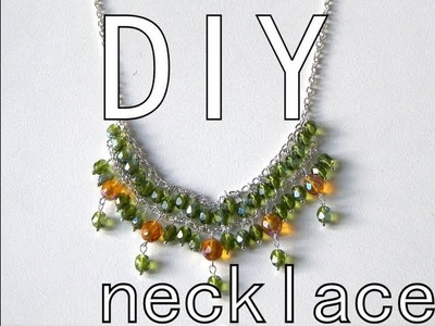 Beading DIY - Chain & Bohemian necklace