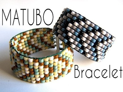 Beading Ideas - Matubo Bracelet using Beading Loom