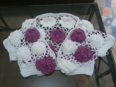 Big Rose Crochet Top Tutorial PART 2