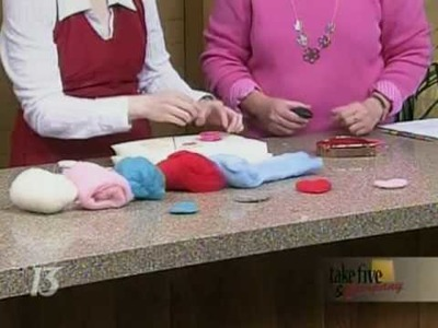 CraftSanity on TV: How to Make a Felted Heart Lapel Pin