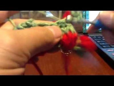 Crochet strawberry stitch-2 (redo)