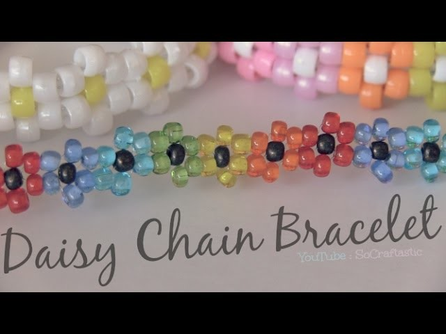 Daisy Chain Bracelet - Beaded Flower Jewelry - How To