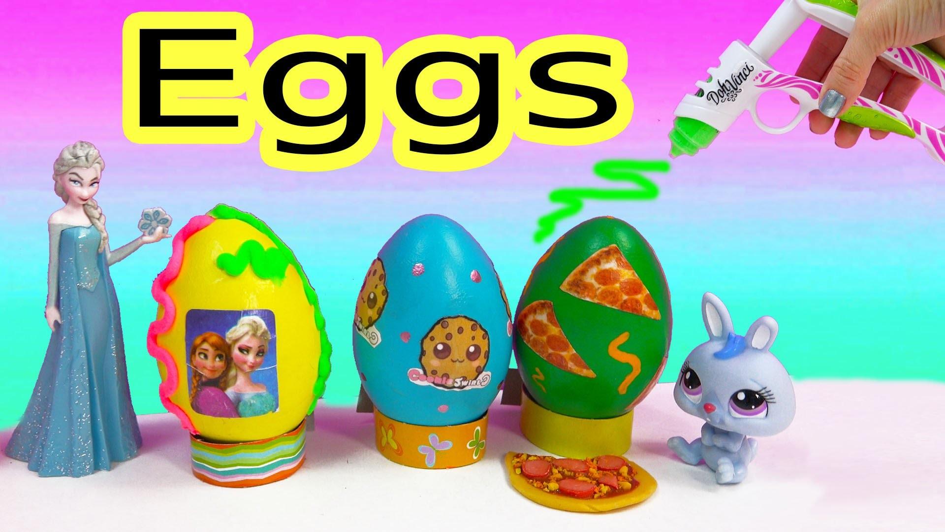 Disney Frozen CookieswirlC Pizza Easter Egg Playdoh Frosting DohVinci DIY Play Doh Vinci Fun 2 Craft