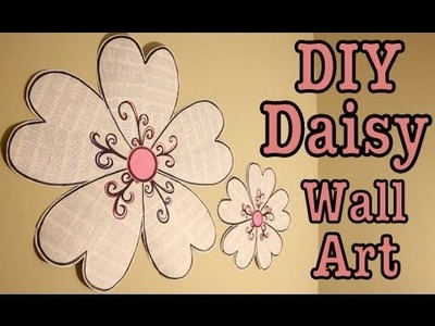 DIY: DAISY WALL ART! ROOM DECOR | #Roomspiration
