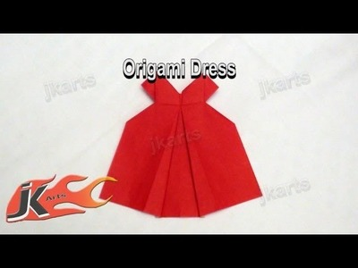 DIY How to make Origami Dress | JK Arts 090