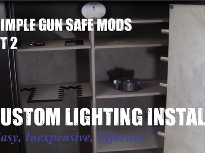 DIY LED Gun Safe Automatic Lighting Install, Easy Step by Step instructions
