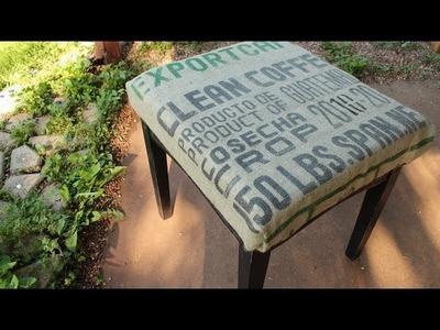 DIY Re-purposed Stool Tutorial - Whitney Sews