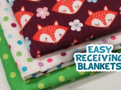 DIY Receiving Blanket {VERY EASY} - Whitney Sews