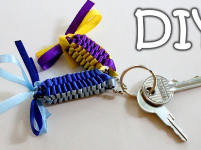 DIY Ribbon Keychains - How to Make a Ribbon Pendants