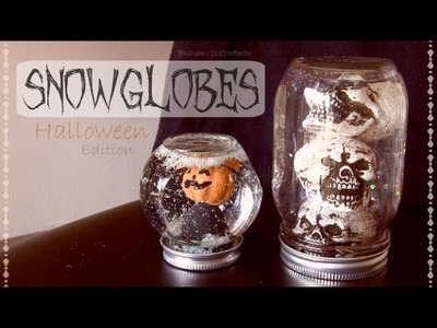 DIY Snow Globes for Halloween - Creepy Home Decor How To