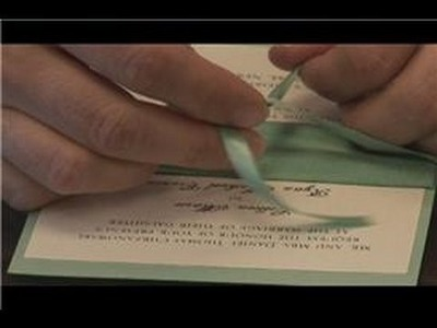 DIY Wedding Preparation : How to Tie a Bow on a Wedding Invitation