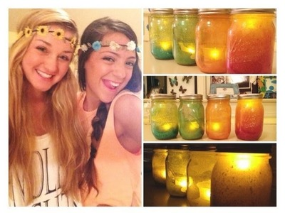 DIY with Niki and Andrea: Glitter Mason Jars