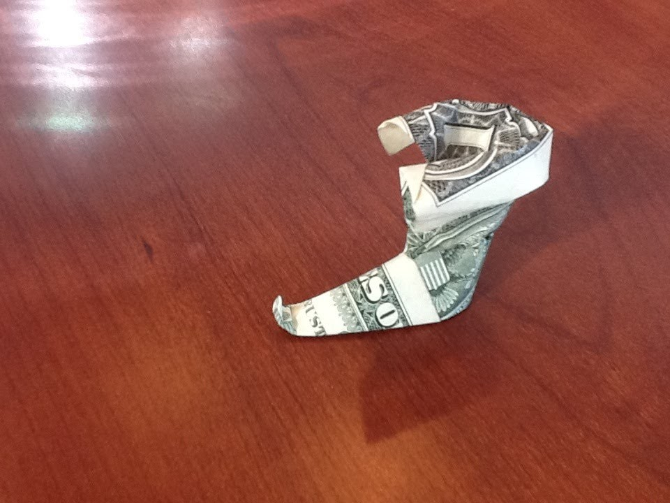 Dollar Origami: Boot