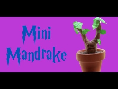 Harry Potter Crafts: Mini Mandrake
