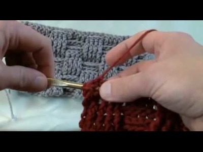 How To Crochet A Basket Weave Stitch - LH Part 2 of 2